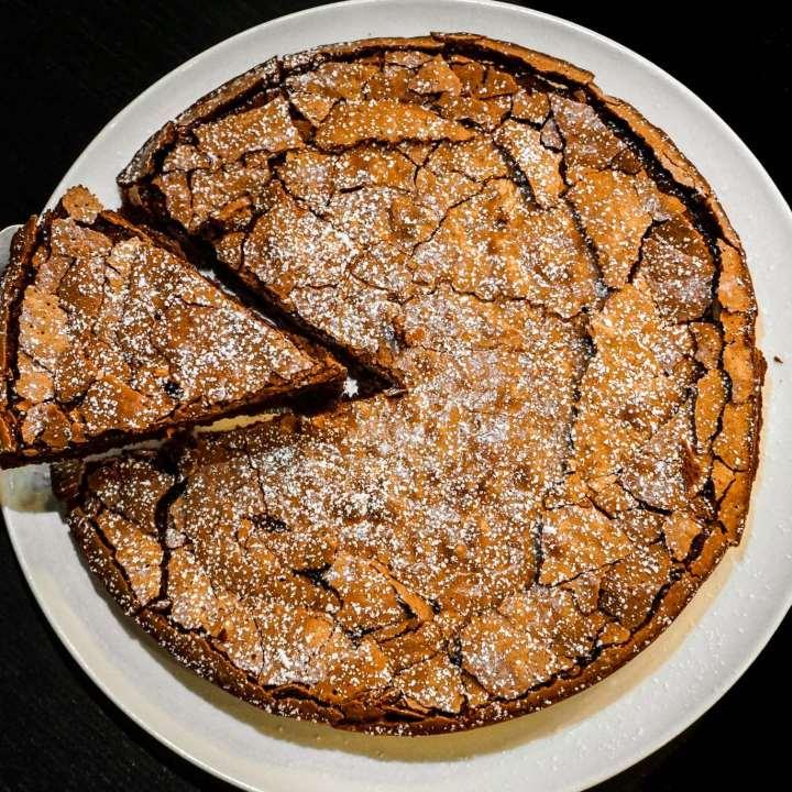 Torta Tenerina -  Italian Flourless Chocolate Cake