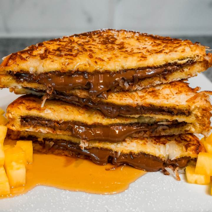 Nutella Stuffed French Toast with Coconut
