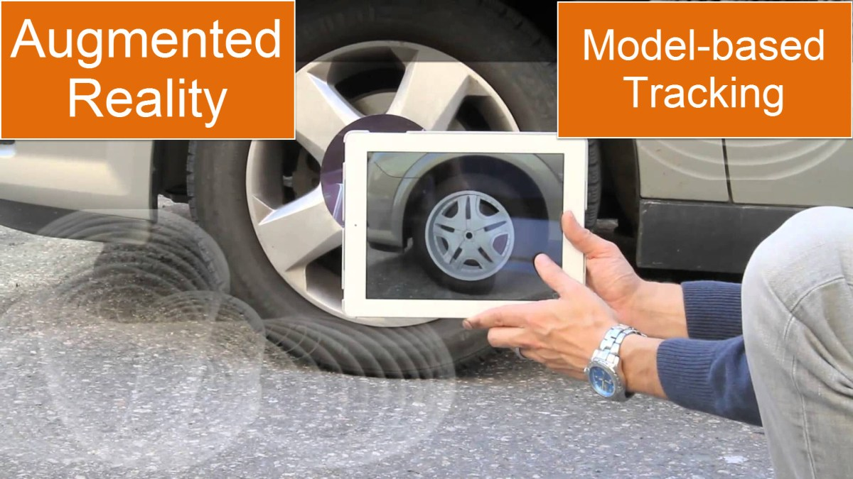 Augmented Reality Tutorial: Model based tracking for car wheels - VisionLib SDK