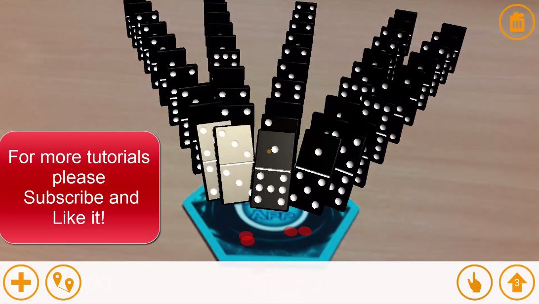 Augmented Reality Tutorial Dominoes Game
