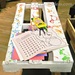 Kids Craft Table from Wood Pallet