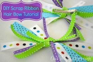 {Tutorial} Fabric Ribbon Hair Bows