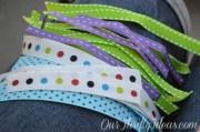 tutorial fabric ribbon hair bows