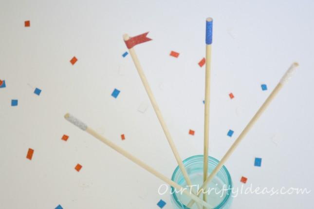 {Tutorial} Sparkly Stir Sticks made with American Crafts Glitter