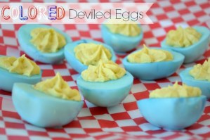 Colored Deviled Eggs for any holiday #mealstogether