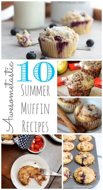 Roundup of Awesome Summer Muffin Recipes at OurThriftyIdeas