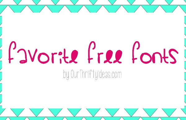 {Favorite Free Fonts} Summery Styles