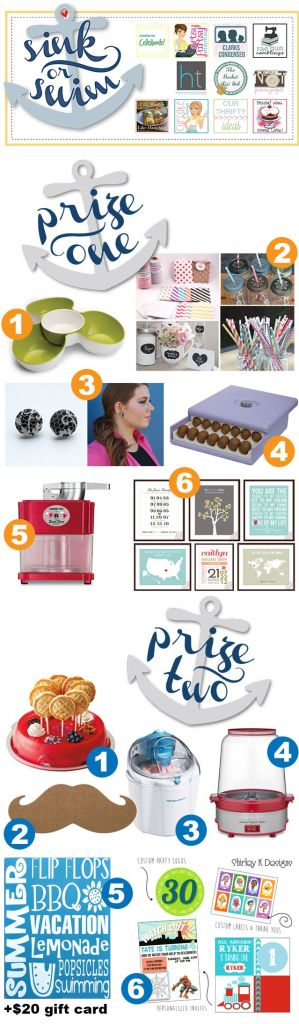 Sink Or Swim #Giveaway from OurThriftyIdeas.com. All you will need to throw an amazing party for yourself.