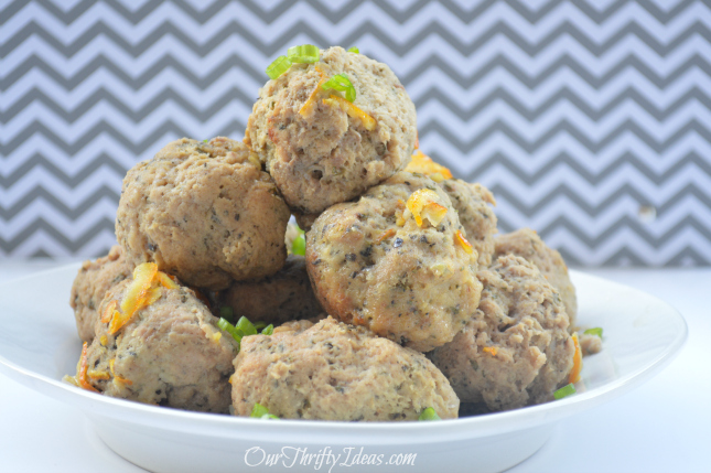 #ad Orange Chicken Meatballs made with Tyson Ground Chicken. These are made in the crockpot and taste amazing as a main dish, for a party treat or even on a sub sandwich. #shop 3