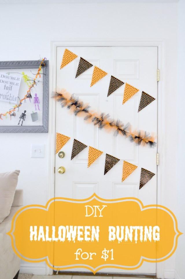 DIY Halloween Bunting for just a dollar
