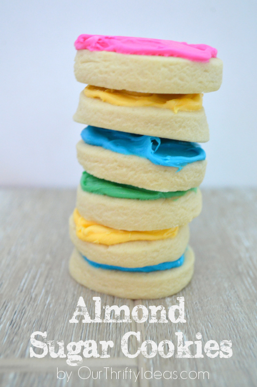 Almond sugar cookie. The perfect sugar cookie with a hint of almond flavoring. Thick & super soft too. #cookie #recipe