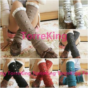 NEW Crochet Lace Trim Wool Cotton Knit Leg Warmers Knee High Leggings Boot Socks for $3.17 ($3.99 shipping)