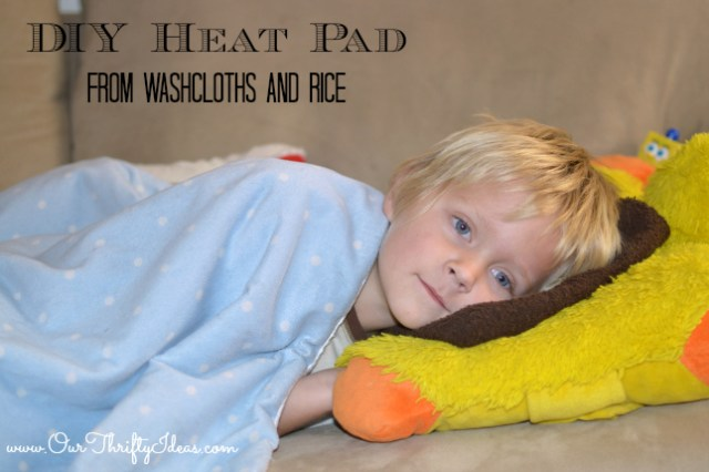 DIY Heat pad using washcloths and rice | www.ourthriftyideas.com #diy #winter #sewing