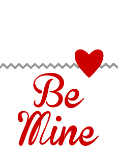 Be Mine free printable from OurThriftyIdeas.com #free #Valentine #printable