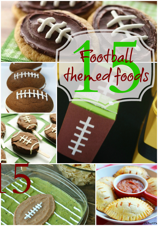 superbowl food themed foods | www.OurThriftyIdeas.com #SuperBowl #football #food #party