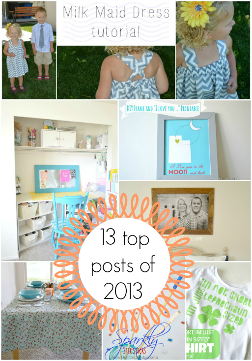 top 13 DIY posts of 2013 on www.OurThriftyIdeas.com