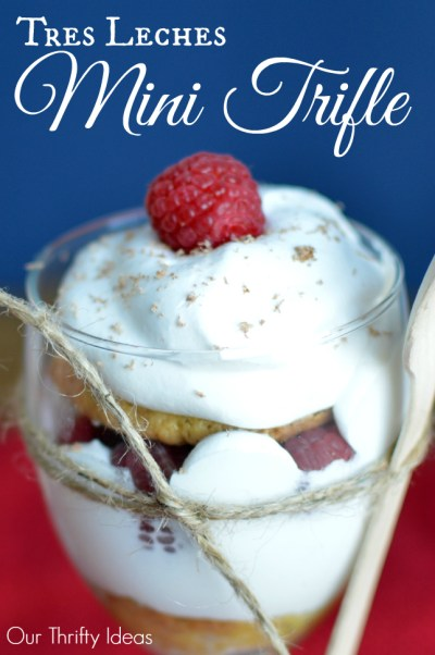 Tres Leches Mini Trifle using the Nestle Tres Leches Kit - simple to make and DIVINE to taste   www.OurThriftyIdeas.com #Valentines4All #shop #cbias #dessert #trifle #cake