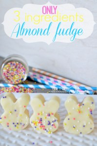 This fudge is only 3 ingredients, and really simple to make. I think even I can make that