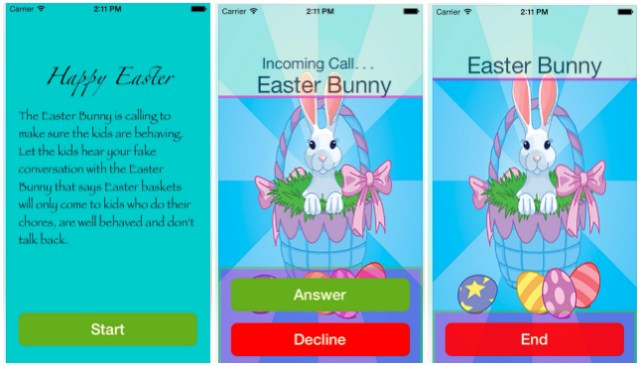 Get a phone call from the Easter Bunny