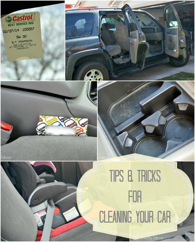 Really easy and useful tips for Spring Cleaning your car. #2 is my favorite and I need to do it!