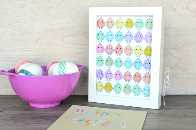 free spring chick printable from Our Thrifty Ideas