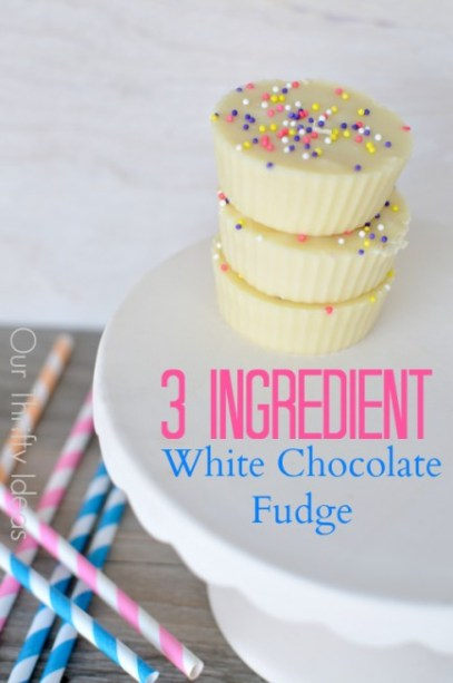 This white chocolate fudge only takes 3 ingredients. I can do that!