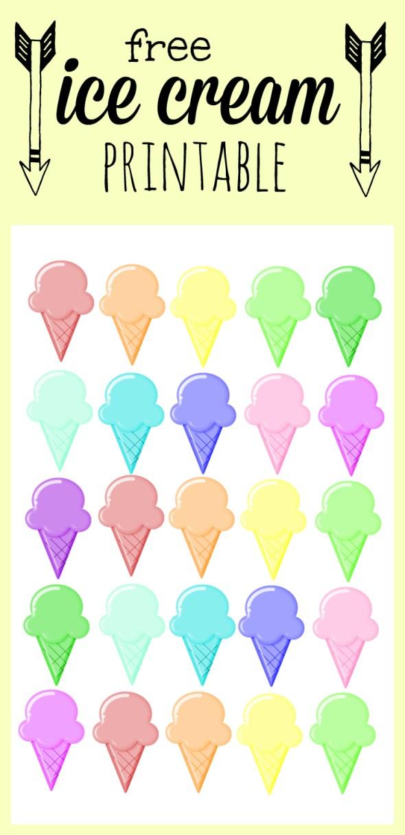 free ice cream printable