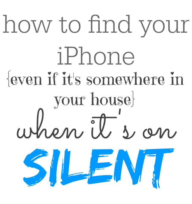 Find your lost iPhone - even when it's on silent and lost in your home