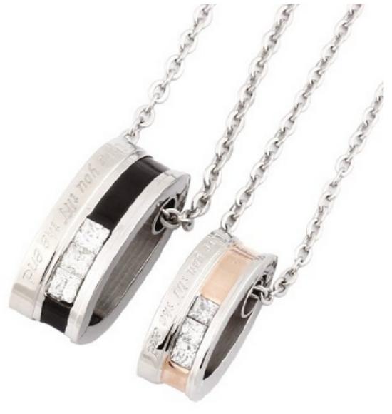 love you til the end ring pendants
