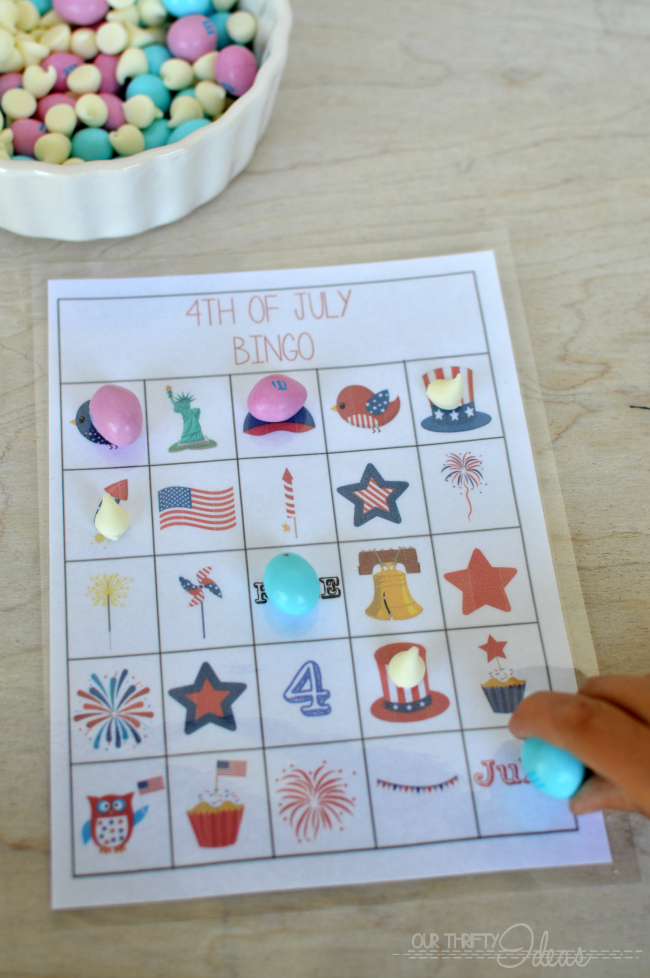4th Of July BINGO And Blog Hop Our Thrifty Ideas