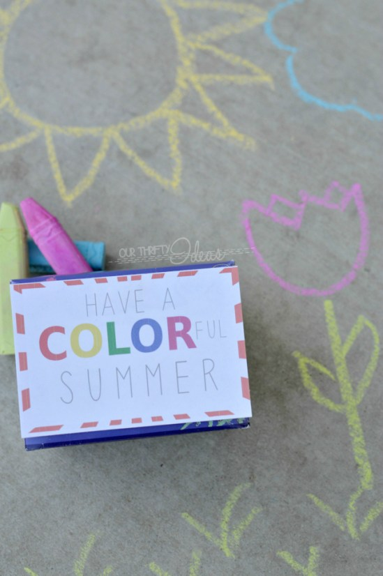 Have a COLORful Summer printable