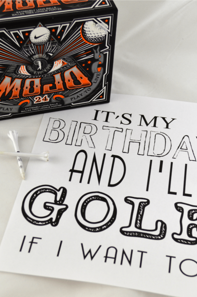 It's my Birthday & I'll GOLF if I want to - free printable 8x10 and card