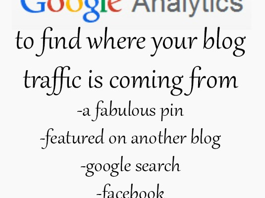 Google Analytics Tip – find where your traffic is coming from