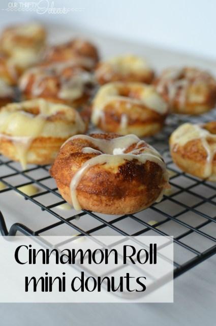 mini Cinnamon Roll donuts - the best recipe for a sweet treat or a fun breakfast