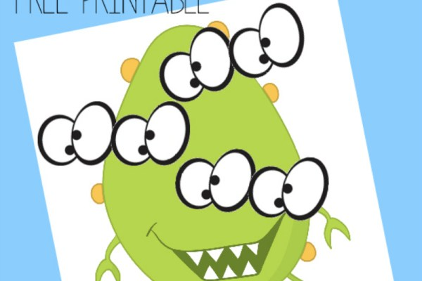 Pin the Eyes on the Monster – Free Printable