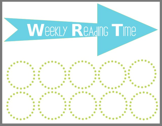 Weekly reading chart