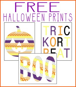 Washi Tape Halloween Printables