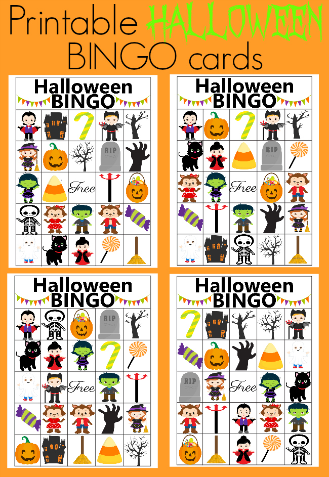 photograph relating to Printable Halloween Bingo Card known as Halloween BINGO - cost-free printable + Halloween Blog site Hop - Our