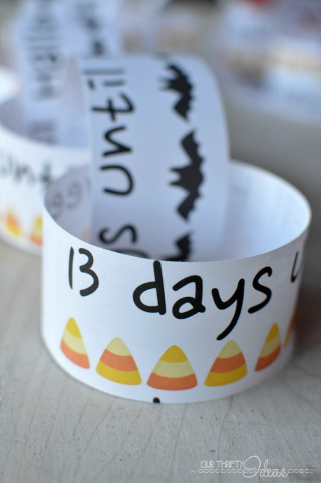 free Halloween countdown chain printable
