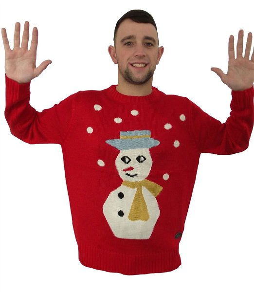 crazy snowman Ugly Sweater