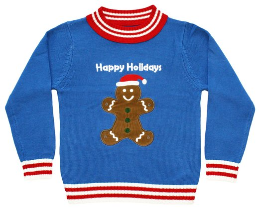 Kids Ugly Sweater for Christmas - Gingerbread Man