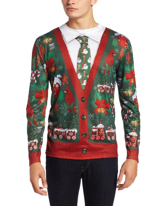 vest & tie Christmas sweater