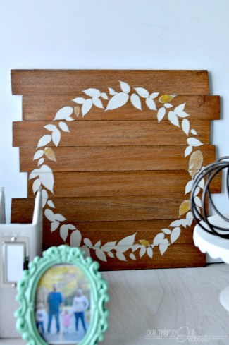 DIY glittered faux wreath - all for just $5!