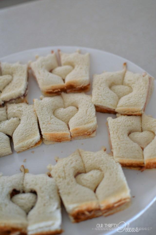 castle shaped sandwiches