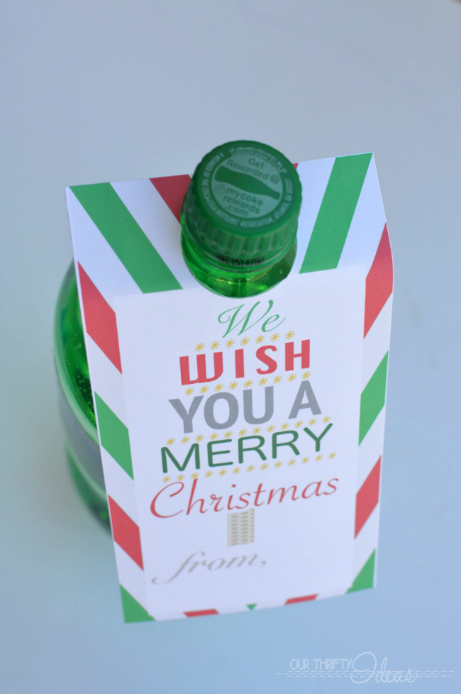 Printable Christmas Soda Tags Neighbor Gift Blog Hop