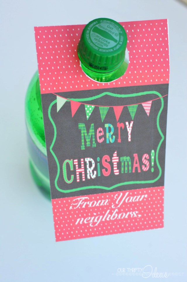 Christmas Soda Tag - Neighbor Gift - FREE Printable