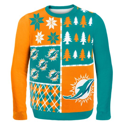 Dolphins Ugly Christmas Sweater