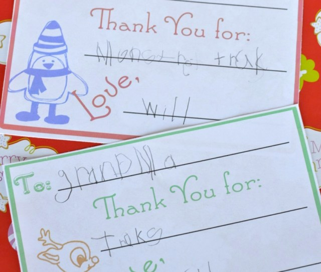 Teach Your Children To Be Thankful By Having Them Write Thank You Cards For Their Christmas Gifts This Year