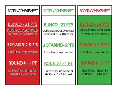 You will not need anything else for Bunco. Just print these pages and you'll be all set
