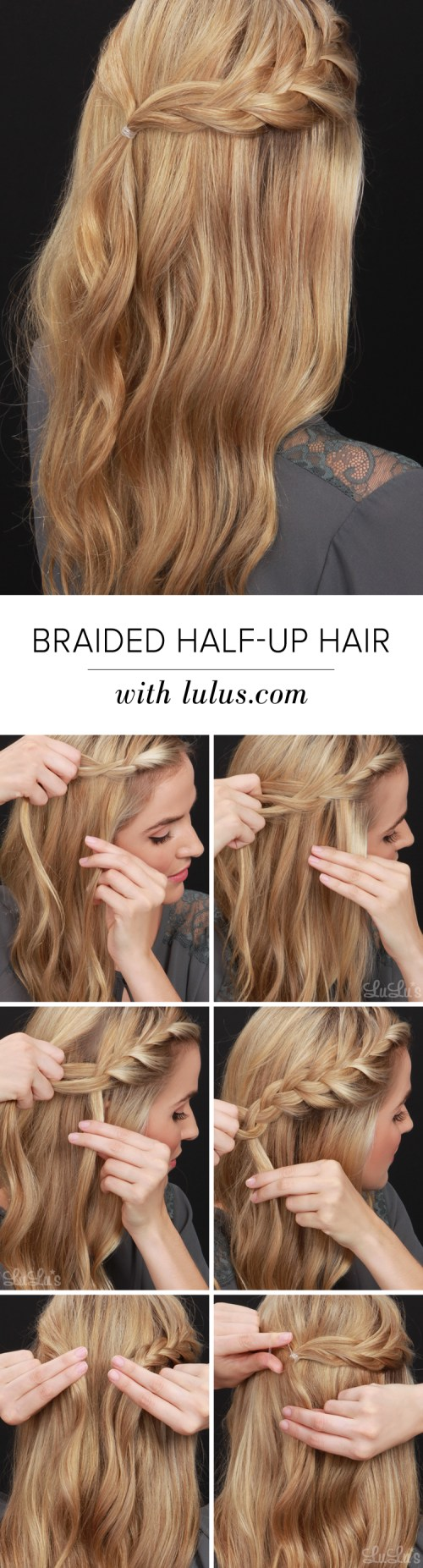 Braided half up hair